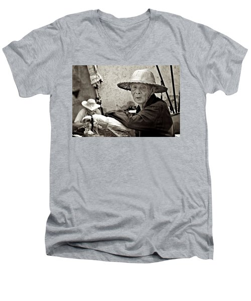 Still Working Men's V-Neck T-Shirt