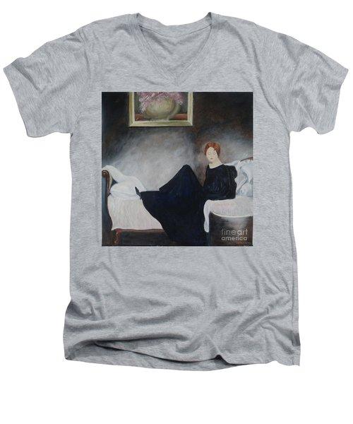 Stillness Of Being Men's V-Neck T-Shirt by Lyric Lucas