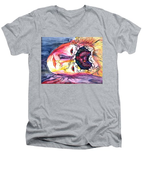 Sting Having A Nightmare Men's V-Neck T-Shirt by Angela Murray