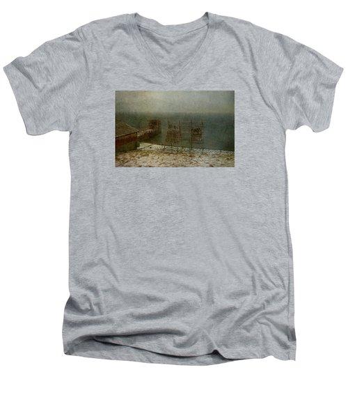 Stockfish Dryers Men's V-Neck T-Shirt by Vittorio Chiampan
