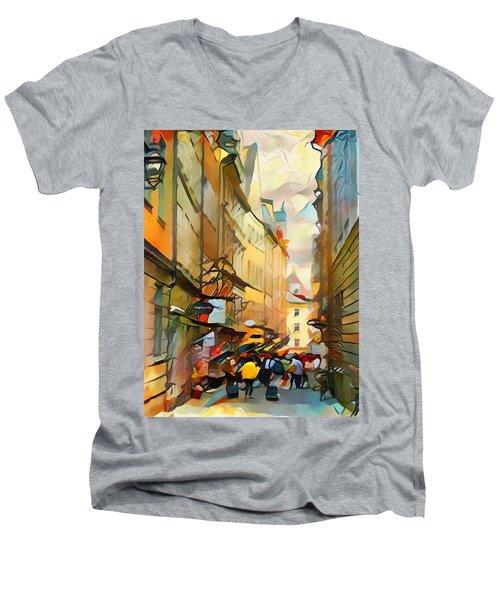 Stockholm Galmastan Town 9 Men's V-Neck T-Shirt