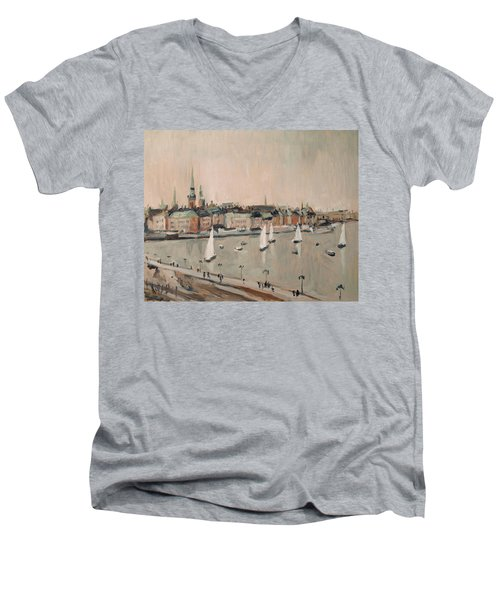 Stockholm Regatta Men's V-Neck T-Shirt by Nop Briex