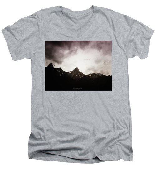 Men's V-Neck T-Shirt featuring the photograph Stockhorn by Mimulux patricia no No