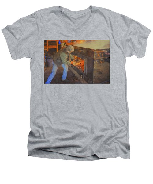 Stoking The Sugarhouse Men's V-Neck T-Shirt