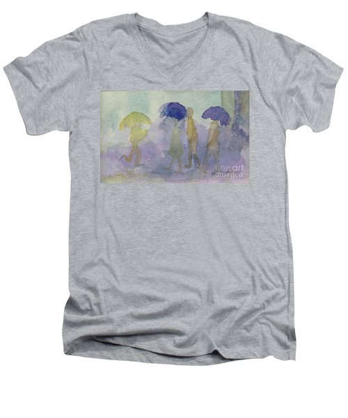 Stomping In The Rain Men's V-Neck T-Shirt
