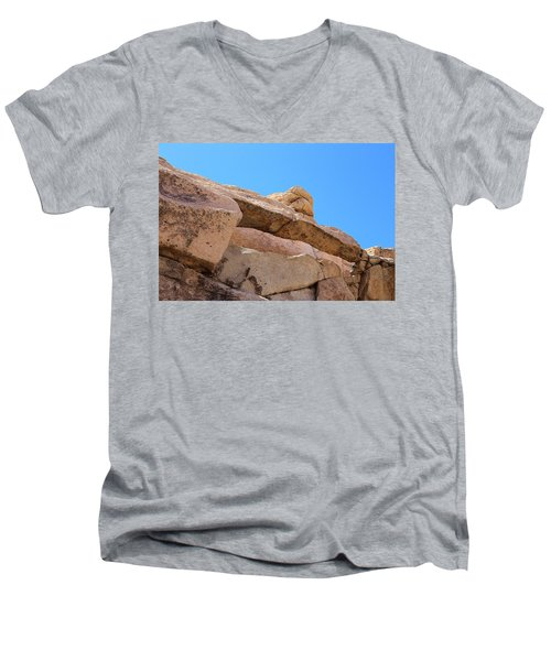 Men's V-Neck T-Shirt featuring the photograph Stone  Arch In Joshua Tree by Viktor Savchenko