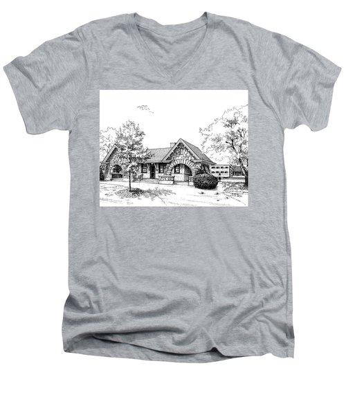 Stone Ave. Train Station Men's V-Neck T-Shirt