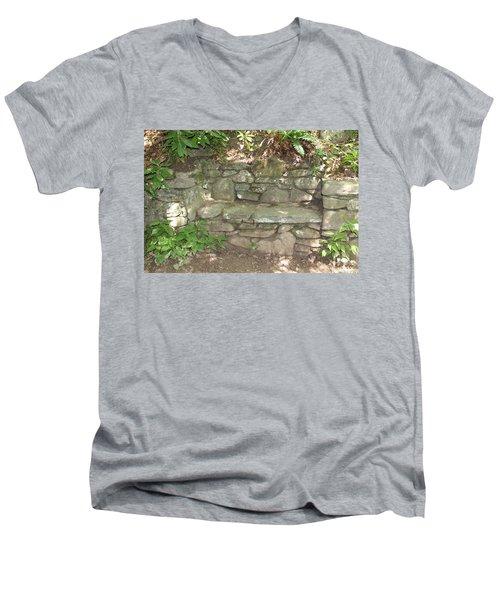 Stone Bench Men's V-Neck T-Shirt