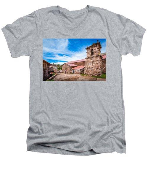 Stone Buildings Men's V-Neck T-Shirt