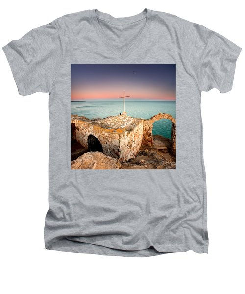 Stone Chapel Men's V-Neck T-Shirt