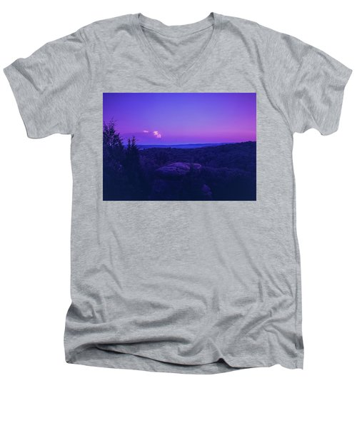 Stone Cloud Sky Cloud Men's V-Neck T-Shirt