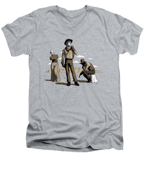 Stone-cold Western Men's V-Neck T-Shirt
