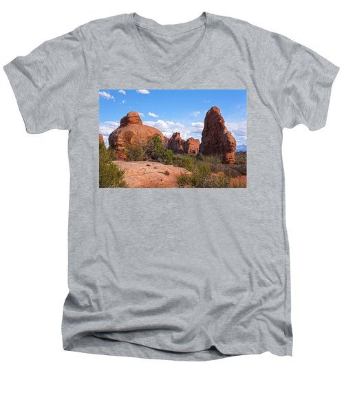 Stone Gods 0f Arches Men's V-Neck T-Shirt by Angelo Marcialis
