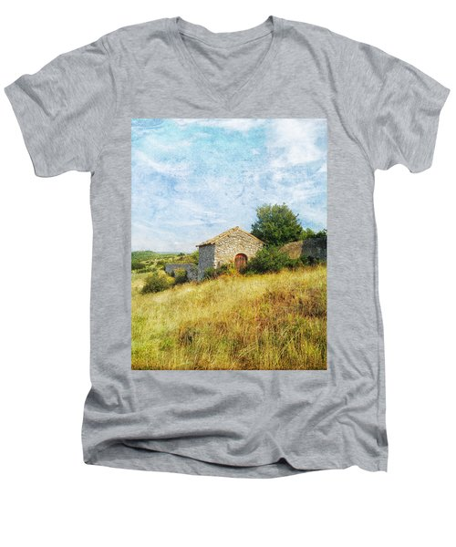 Provence Countryside Men's V-Neck T-Shirt by Catherine Alfidi