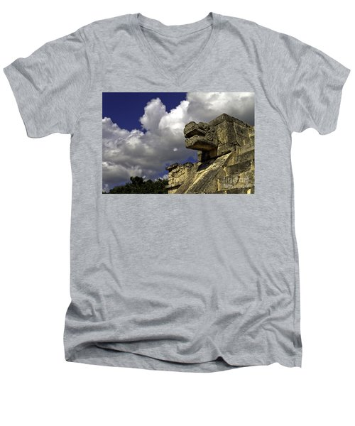 Stone Sky And Clouds Men's V-Neck T-Shirt