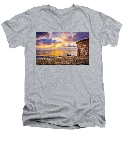 Stone Torre 2. Men's V-Neck T-Shirt