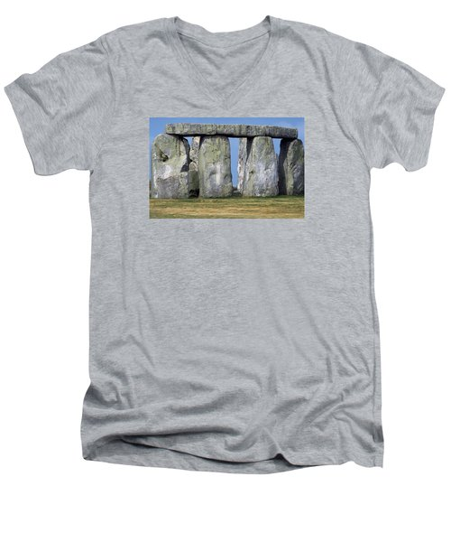 Stonehenge Men's V-Neck T-Shirt by Travel Pics