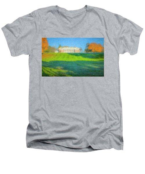 Stonehill College In October Men's V-Neck T-Shirt