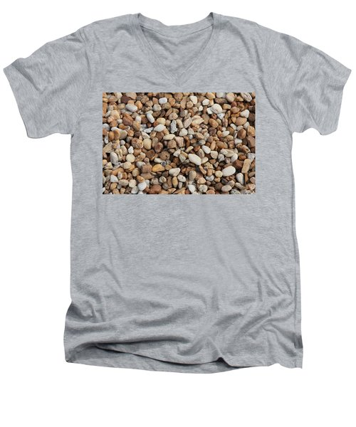 Stones 302 Men's V-Neck T-Shirt by Michael Fryd