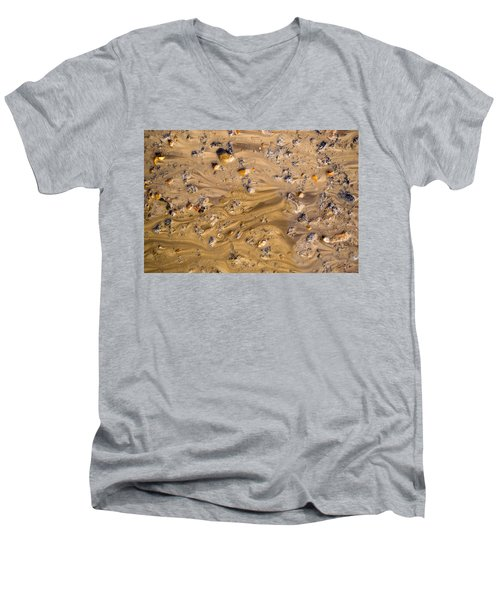 Men's V-Neck T-Shirt featuring the photograph Stones In A Mud Water Wash by John Williams