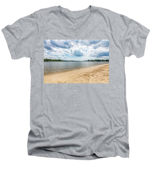 Sand, Sky And Water Men's V-Neck T-Shirt
