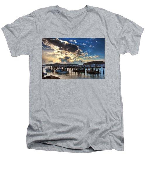 Stonington Lobster Boats Men's V-Neck T-Shirt