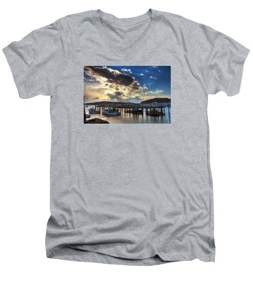 Stonington Lobster Boats Men's V-Neck T-Shirt