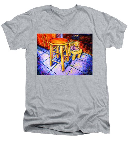 Stool Men's V-Neck T-Shirt by Viktor Lazarev
