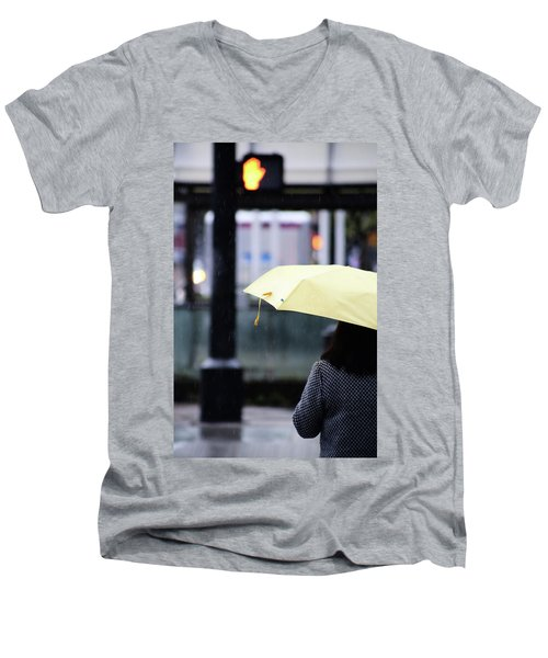 Stop To Thoughts  Men's V-Neck T-Shirt by Empty Wall