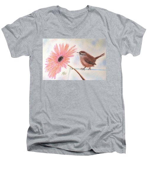 Stopping By To Say Hello Men's V-Neck T-Shirt