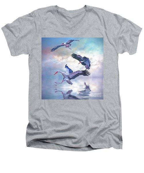 Storks Landing Men's V-Neck T-Shirt