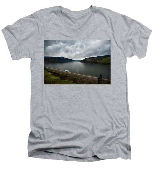 Storm Brewing On The Columbia Men's V-Neck T-Shirt