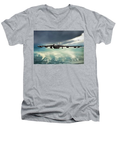 Men's V-Neck T-Shirt featuring the digital art Storm Cell by Peter Chilelli