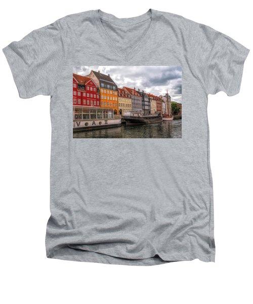 Storm Clouds Over Nyhavn Men's V-Neck T-Shirt