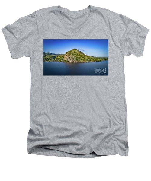 Storm King Mountain From Breakneck Ridge Men's V-Neck T-Shirt