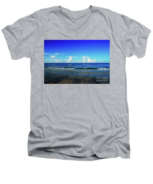 Men's V-Neck T-Shirt featuring the photograph Storm On The Horizon by Gary Wonning