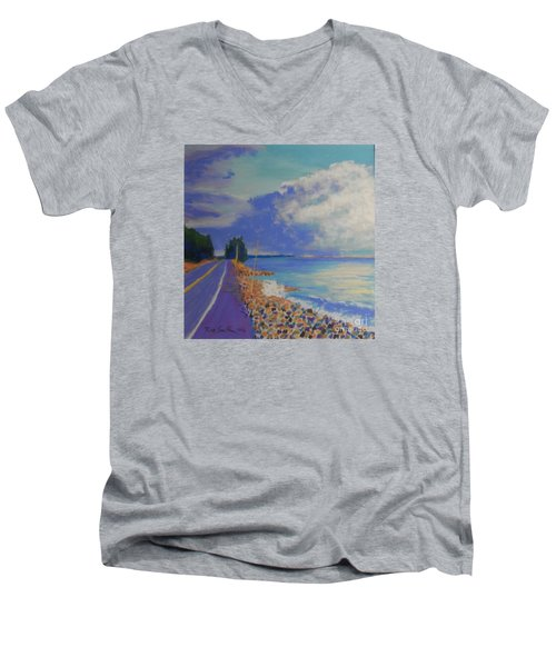 Storm Over Queensland Beach Men's V-Neck T-Shirt by Rae  Smith