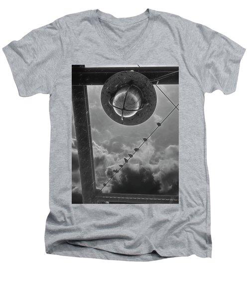 Storm Over The Bridge Men's V-Neck T-Shirt