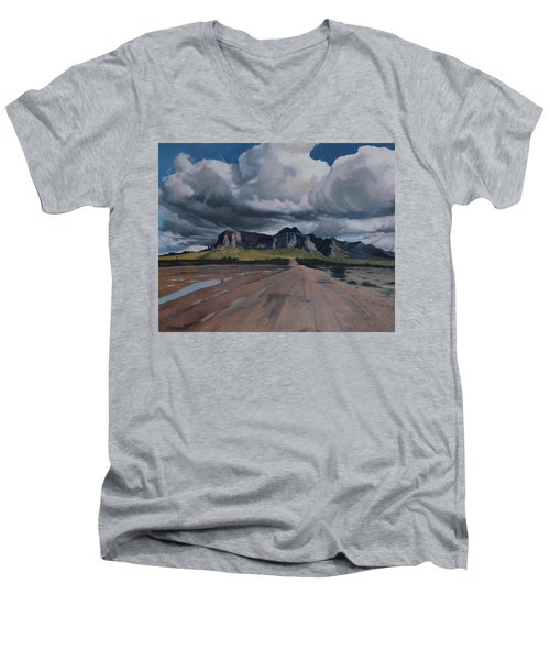 Storm Over The Superstitions Men's V-Neck T-Shirt