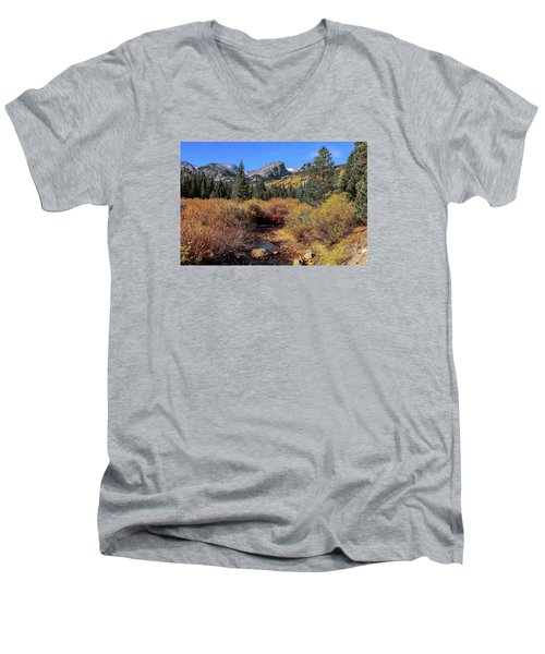 Men's V-Neck T-Shirt featuring the photograph Storm Pass Trail by Perspective Imagery