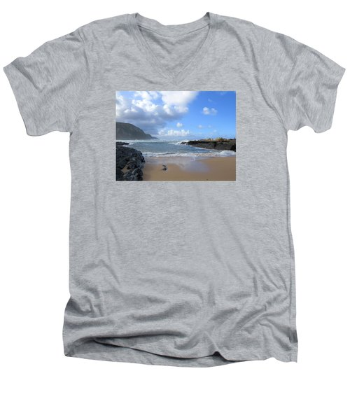 Storm River Beach Men's V-Neck T-Shirt