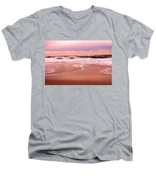 Storm Waves Hitting The Shore Men's V-Neck T-Shirt