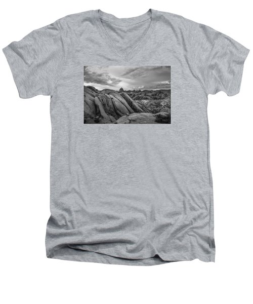 Stormy Afternoon At Alabama Hills Men's V-Neck T-Shirt