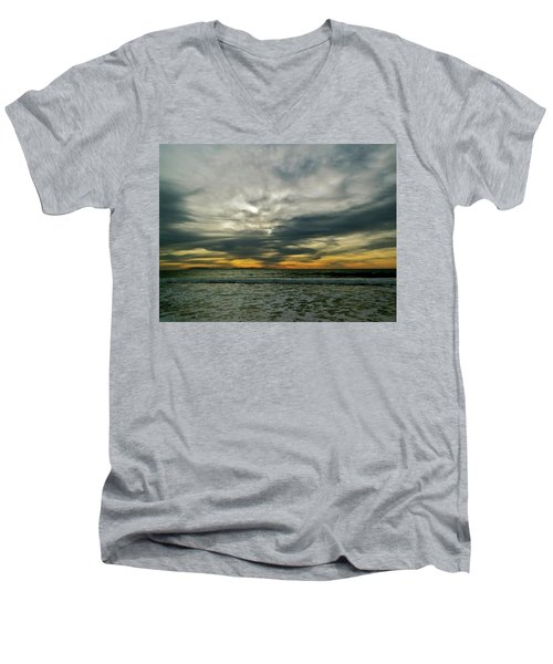 Stormy Beach Clouds Men's V-Neck T-Shirt