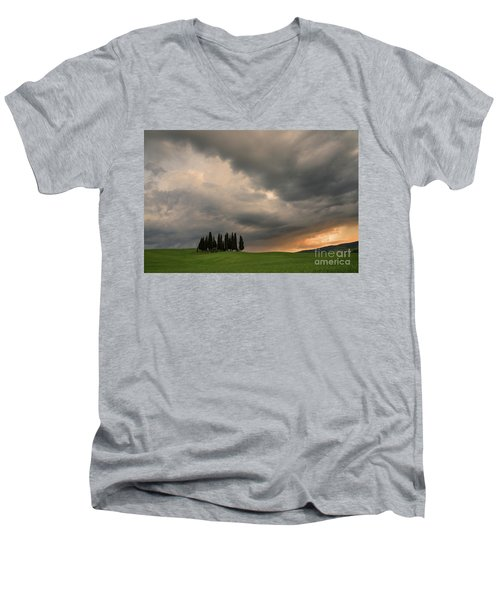 Stormy Day Men's V-Neck T-Shirt by Yuri Santin