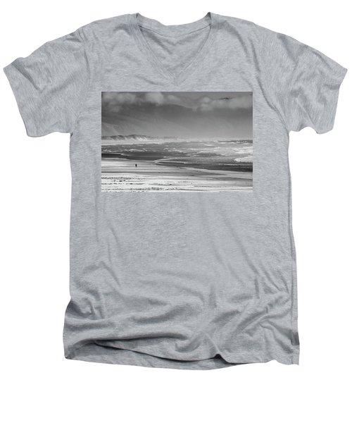 Stormy Oceanside Oregon Men's V-Neck T-Shirt