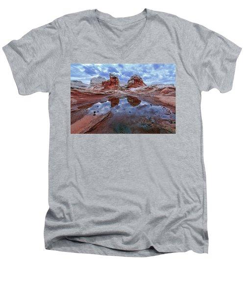 Stormy Reflection Men's V-Neck T-Shirt