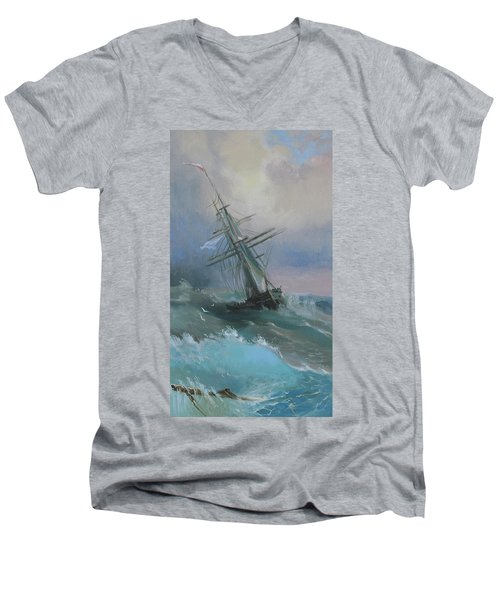 Stormy Sails Men's V-Neck T-Shirt
