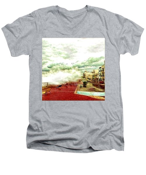 Stormy Sea Men's V-Neck T-Shirt