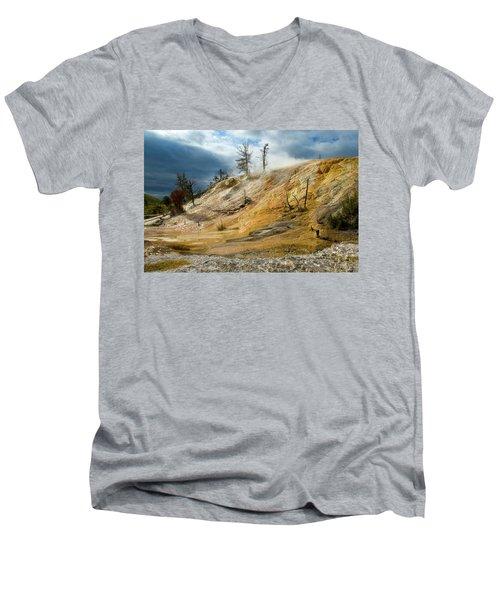 Stormy Skies At Mammoth Men's V-Neck T-Shirt